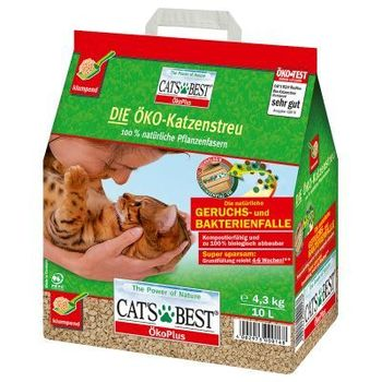 Cats best öko plus 4.3kg 10l